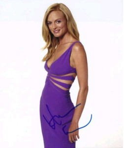 Heather Graham autographed picture