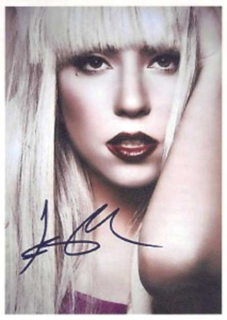 lady gaga autograph - photo #6