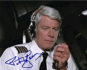 Peter Graves Autograph Photo from Airplane