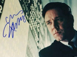 russell crowe autograph 8x10 photo